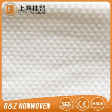 100% viscose tecido não-tecido spunlace tecido não tecido toalhetes pequeno ponto em relevo tecido não-tecido