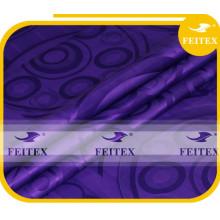 Nueva Llegada Tela de Tela Africana Guinea Brocade FEITEX Perfume Moda Púrpura Bazin Riche