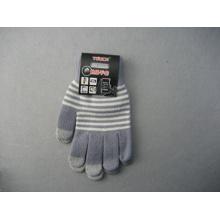 Gants de travail d'écran tactile de doigt de polyester du liner trois de 10g-T3002