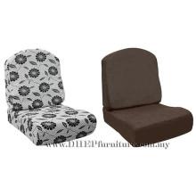 Almofada de contorno para sofá, sofá de madeira de almofada