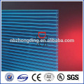 10 years guarantee Grade A hollow Soft Textile polycarbonate sheet