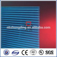 lámina de policarbonato multicapa de plástico para techo, lámina de policarbonato transparente