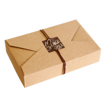 Customized Design Folded Kraft Paper Gift Packaging Box