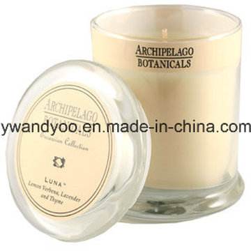 Luxury Scented Soy Candle in Glass with Lid