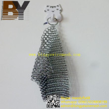 Pan Pot Cleaner Stainless Steel Chainmail Scrubber