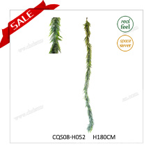 6-7feet Artificial Plastic Leaves Factory Christmas Decorations Craft