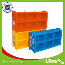 Meuble de rangement pour jouets Meubles d'école Meubles pour enfants Cabinet LE.SK.003 Assurance de la qualité