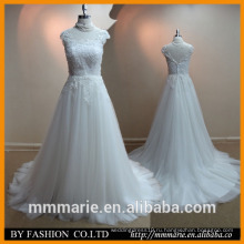2016 новый стиль красивые кружева свадебное платье портрет открытой спиной развертки поезд слоновой кости 2014 последние свадебные платья