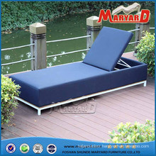 Outdoor Upholstered Fabric Chaise Lounge