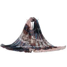 Estética étnica rayas impresas bufanda para señora