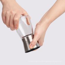 Glasflasche manuelle Salz- und Pfeffermühlen