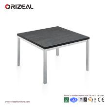 Mesa de centro contemporánea Orizeal, mesa auxiliar amarilla, mesa de centro superior de madera (OZ-OTB013)