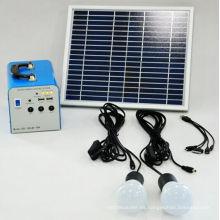 Power Solution 20W Solar Home System ejecuta ventiladores de CC y televisores