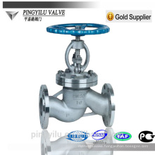 steam globe valve flange end PN 16-100 water globe valve stainless steel globe valve manufacturer for commercial applications