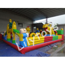 Children Backyard Inflatable Fun City / Inflatable Playground For Fun Park