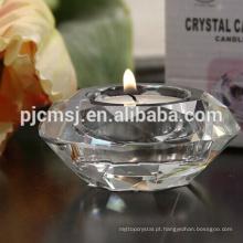 Made in China superior qualidade vela diamante castiçal para decoração