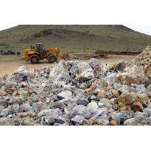 Caf2 75% Fluoride Mine / Fluorite Ore For Smelting Aluminium Industry 10-80mm