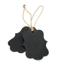 Eco-Friendly Feature Die Cut Recycled Paper Black Hang Tag