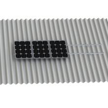 Bâti solaire ondulé de panneau de kit de forme de L de crochet L de toit ondulé