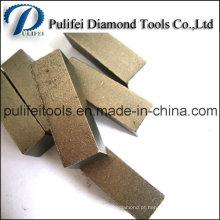 Segmento de moedura do assoalho concreto do diamante para a almofada do metal do trapézio
