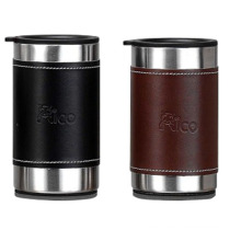 Stainless Steel Double Wall Mug with Leather 280ml