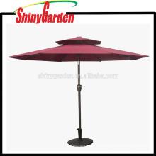 Almohadas comerciales Double Tops Outdoor Pagoda Patio Polyester Umbrella