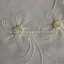 Chain Embroidery Fabric Using in Home Textile