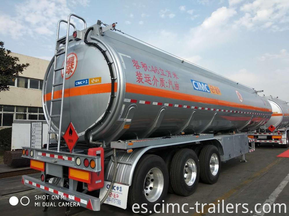 Rr 46cbm Tri Axle Alu Alloy Fuel Tank Semi Trailer