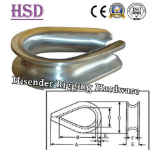 Tipo US galvanizado resistente G-414 dedal para la cuerda de alambre