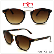 Plastic Ladies Sunglasses with Metal Decoration (WSP508309)