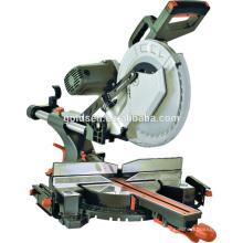 12in 2000w Poder de aluminio de madera de trabajo de corte de la máquina de sierra Portátil de cinturón 305mm doble bisel de diapositivas Mitre vio GW8038