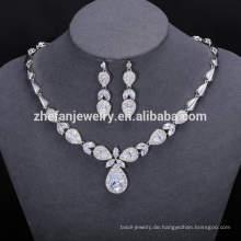 ZheFan Großhandel indischen Luxus Brautschmuck mit cz gesetzt