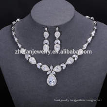 ZheFan wholesale indian luxury bridal jewelry set with cz