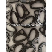 Piezas de cerámica Zirconia ZrO2 de color blanco negro