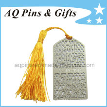 Photo Etched Metal Hollow out Bookmark avec Gold Tassel (bookmark-007)