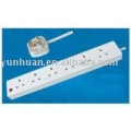 Ac power extension lead socket electric outlet current board power strip BS Uk type