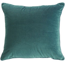 Green Navy Blue Square Plain Throw Pillows For Car , Decorative Bed Pillows