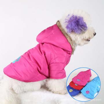 Pet Clothes Dog Clothes with Embroidered Dog Clothes Warm and Thick Pet Clothes