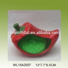Hot pepper shape ceramic sponge holder