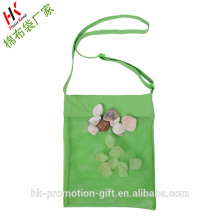 Wholesale ECO Friendly Children PURE COTON big size Shell Collect mesh Bag
