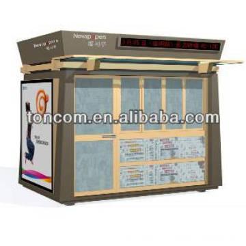 BKH-47 steel information kiosk shelter customized