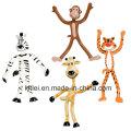 Animales de parque zoológico Bendable de OEM / ODM Figura plegable juguetes - 4 pulgadas de alto