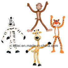 Figura dobrável brinquedos dos animais dobráveis do jardim zoológico do OEM / ODM - 4 polegadas de altura