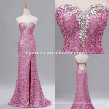 Sweetheart Neckline Mermaid Custom Made Floor Longueur Designs Long Evening Party Wear ED150 sequined backless robe de soirée