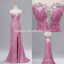 Sweetheart Neckline Mermaid Custom Made Floor Length Designs Long Evening Party Wear ED150 lantejoulas vestido de noite sem costas