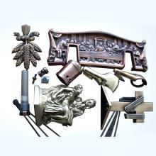 Piezas de cajón con fundición de zinc, moldeo por inyección o estampación, cobre antiguo o chapado en latón