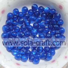 Fashionable Blue 6MM 500pcs Factory Wholesale Round Jewelry Making Beads Evil Eye Crystal Resin Acrylic Beads