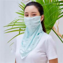 Protetor solar colorido rosto lenço máscara facial
