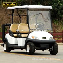 EXCAR 48V 4 Seater combustible eléctrico tipo carrito de golf, troyano carrito de golf buggy para la venta