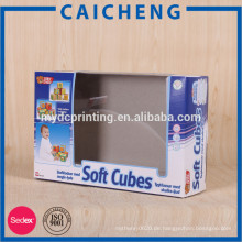 Gewachstes Papier Fenster Verpackung Box für die Verpackung von Spielzeug Papier Box